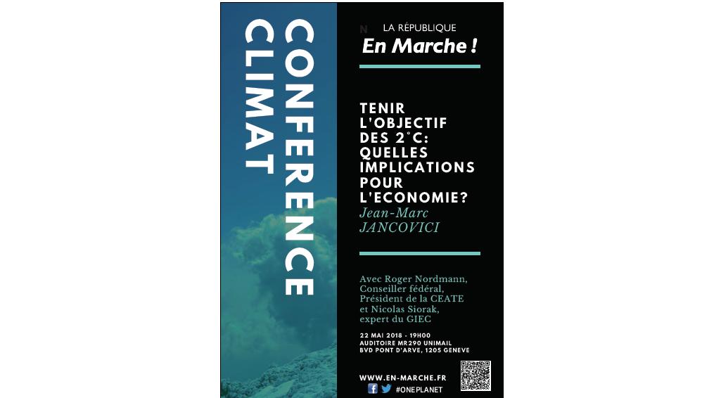 Conférence : Tenir l'objectif des 2°C : quelles implications sur l'économie ?