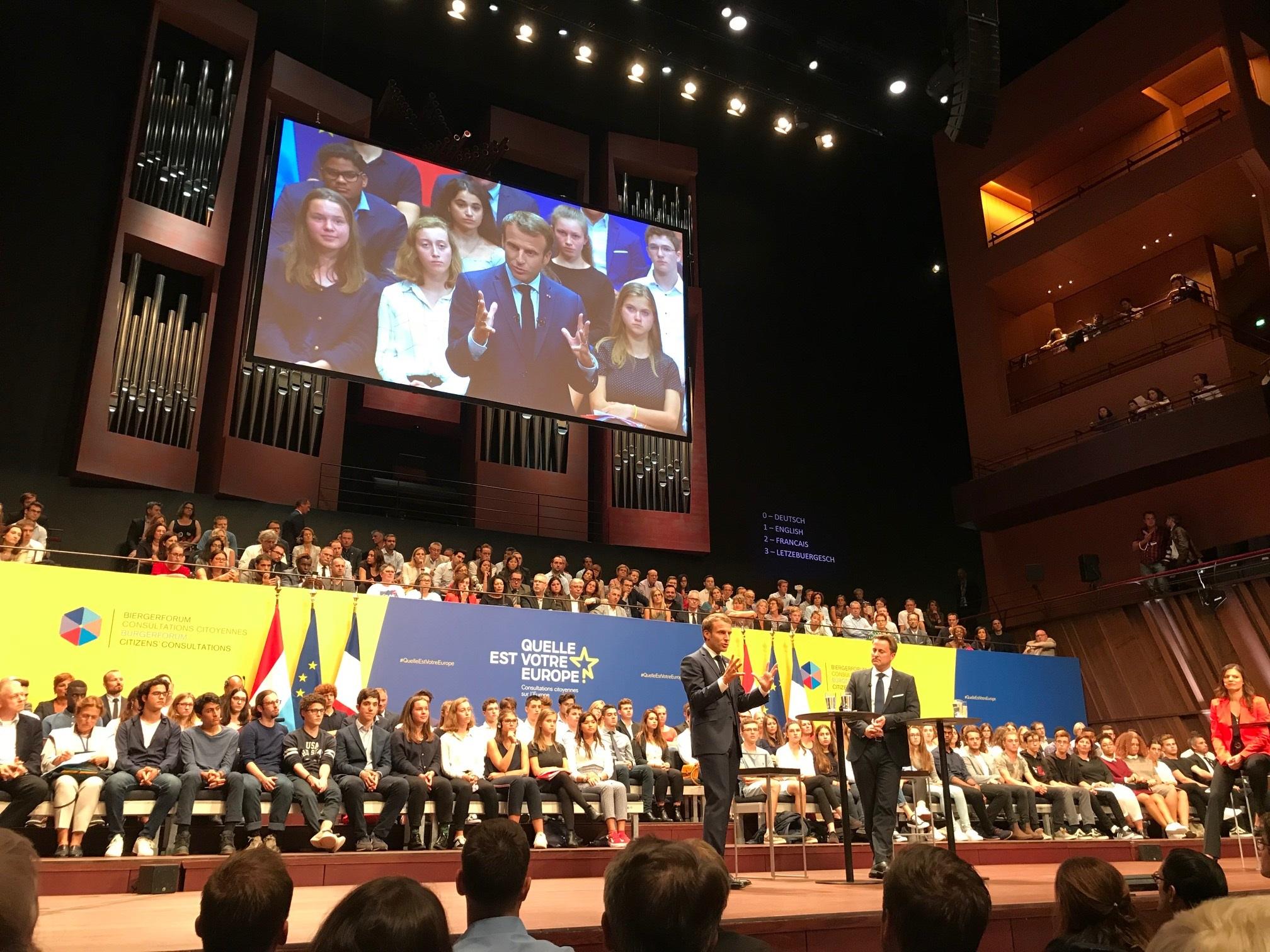 Visite d'Emmanuel Macron à Luxembourg le jeudi 6 septembre