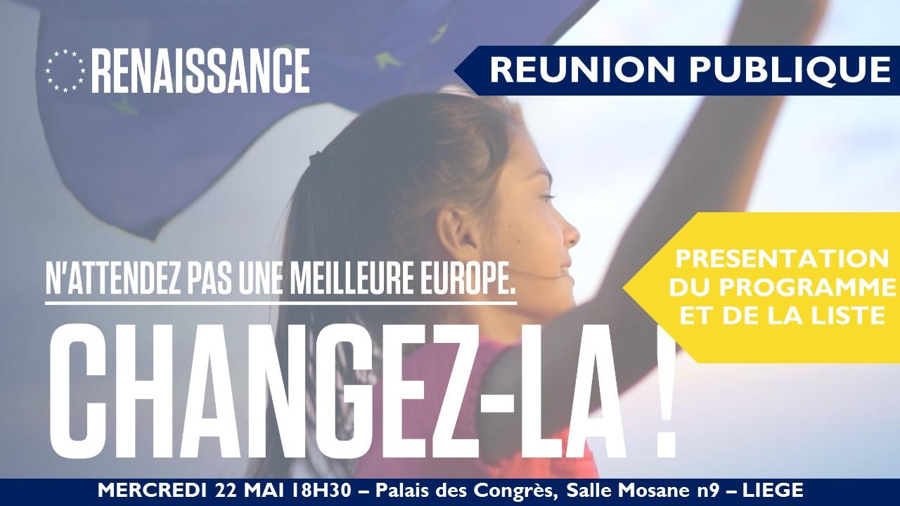 Réunion Publique Liège: Présentation du Programme Renaissance