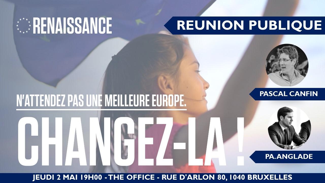 Reunion Publique avec Pascal Canfin - Candidat Renaissance et PA. Anglade