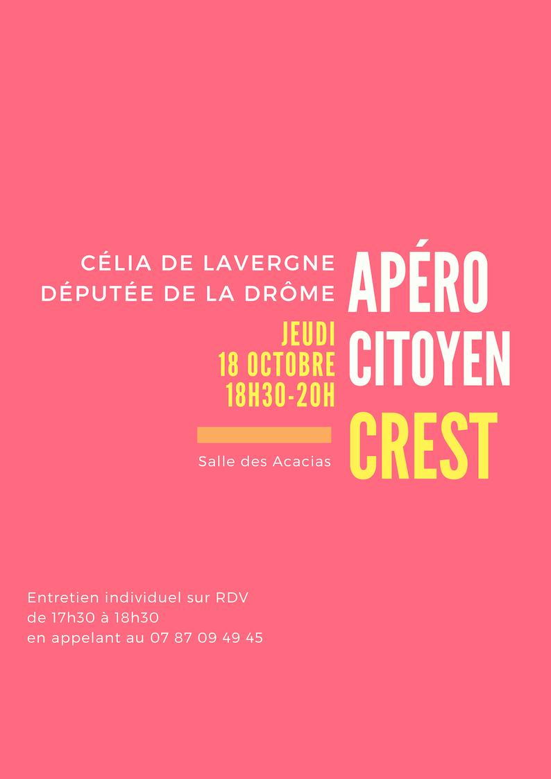 Venez échanger avec votre députée Célia de Lavergne à Crest