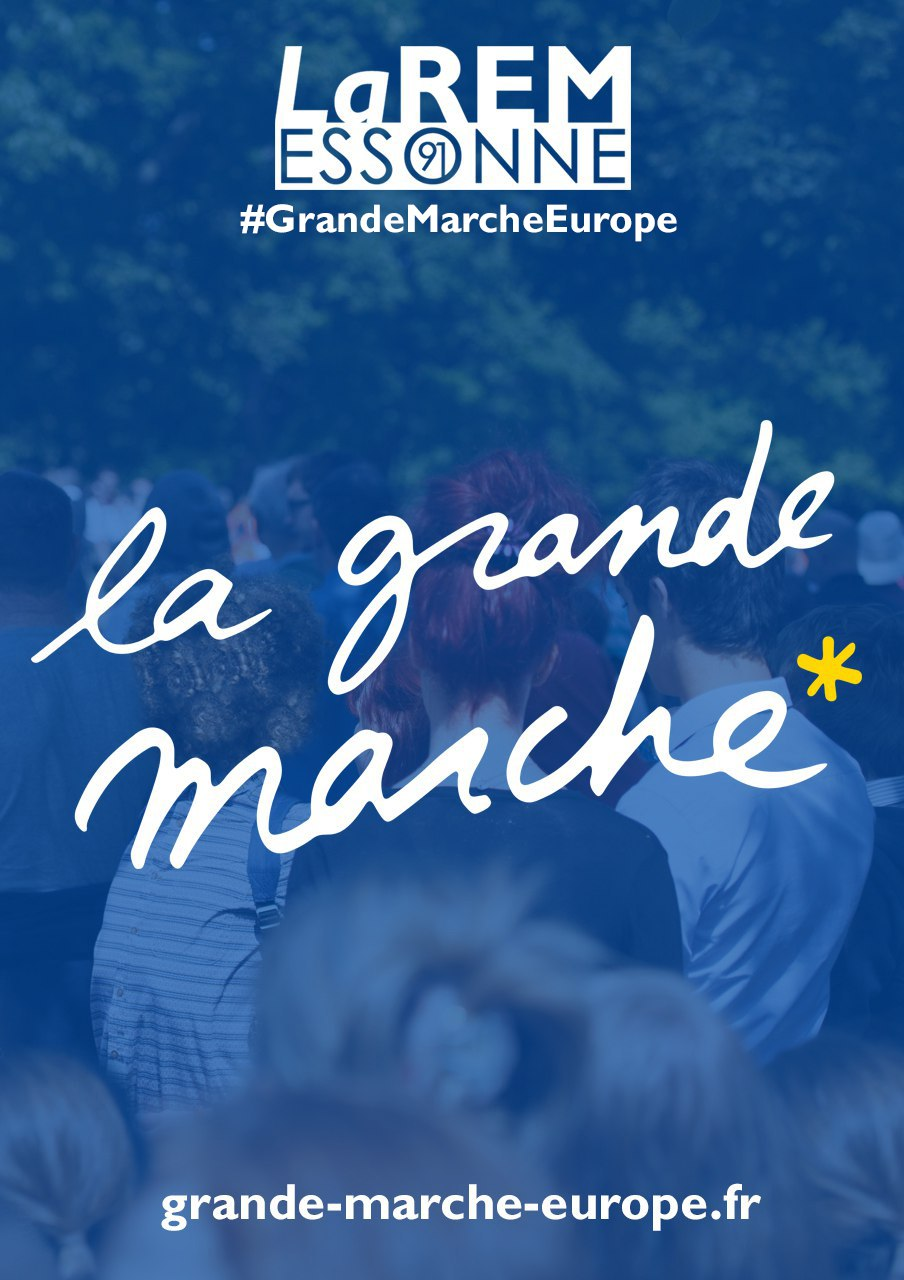 Lancement de la Grande Marche pour l'Europe !