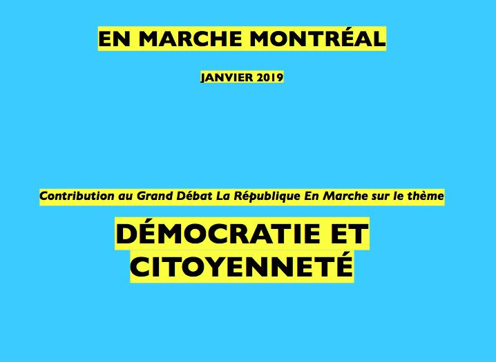 [Grand Débat] Contribution comité de Montréal