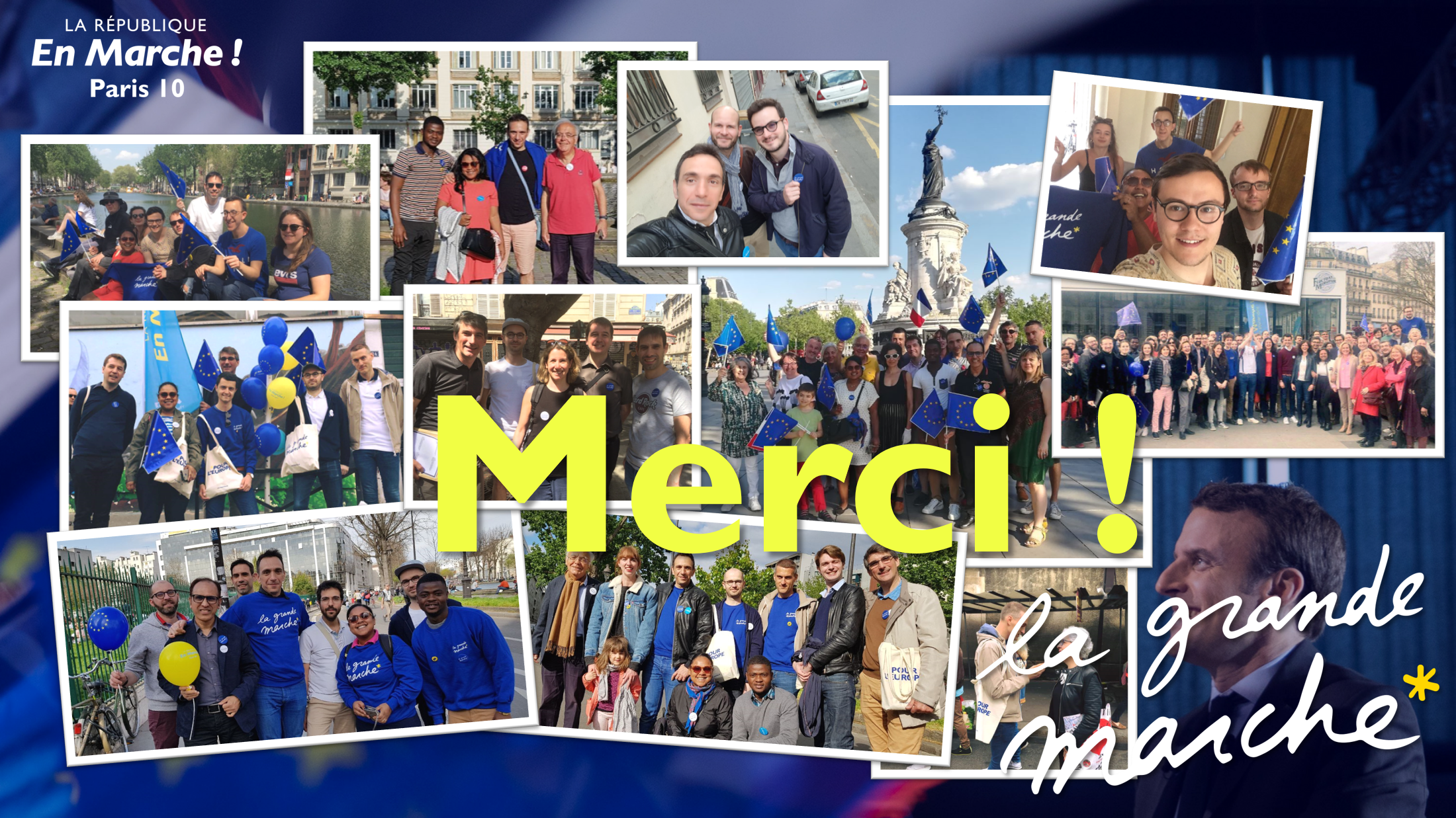La République en Marche Paris 10 contribue au succès de la Grande Marche pour l'Europe !