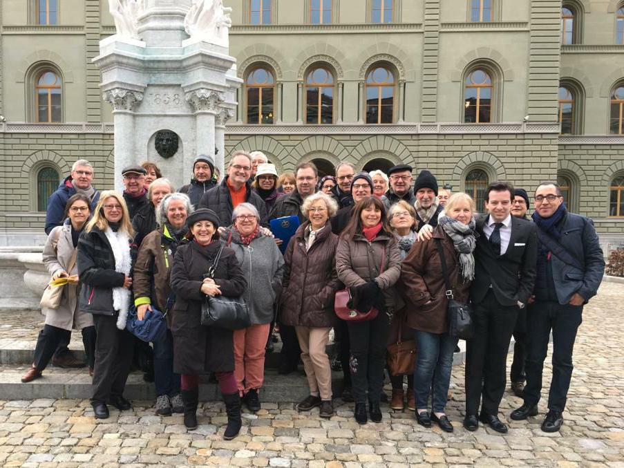 [CL Bâle] En Marche Bâle @ la croisée du Rhin et le comité En Marche 68 de Mulhouse en visite au Palais fédéral de Berne