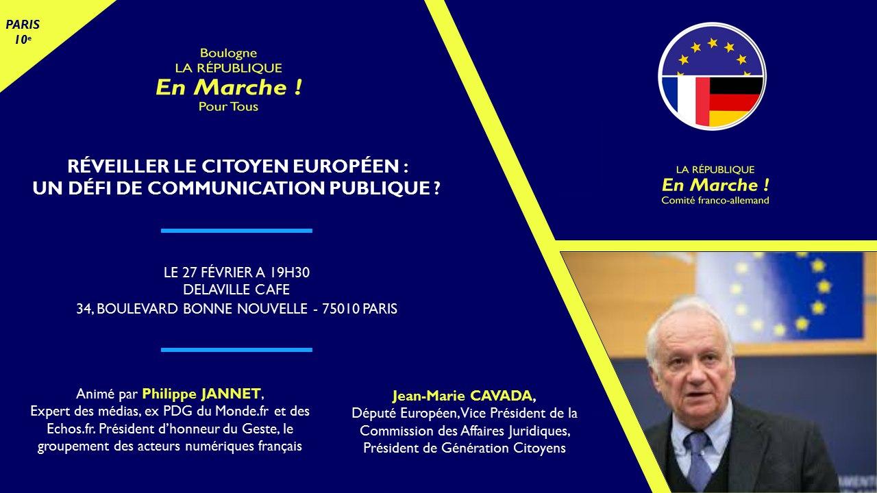 Réveiller le citoyen Européen : un défi de communication publique ?