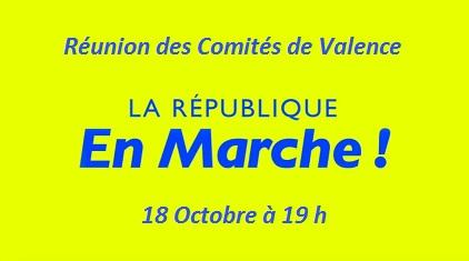Les Comités de Valence se réunissent le 18 Octobre à 19h