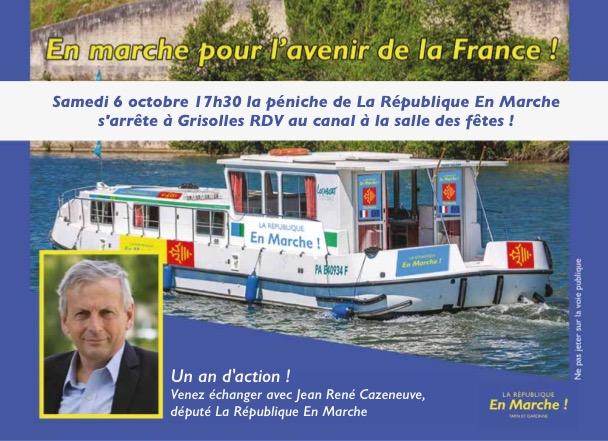La péniche Larem Occitanie fait escale à Grisolles