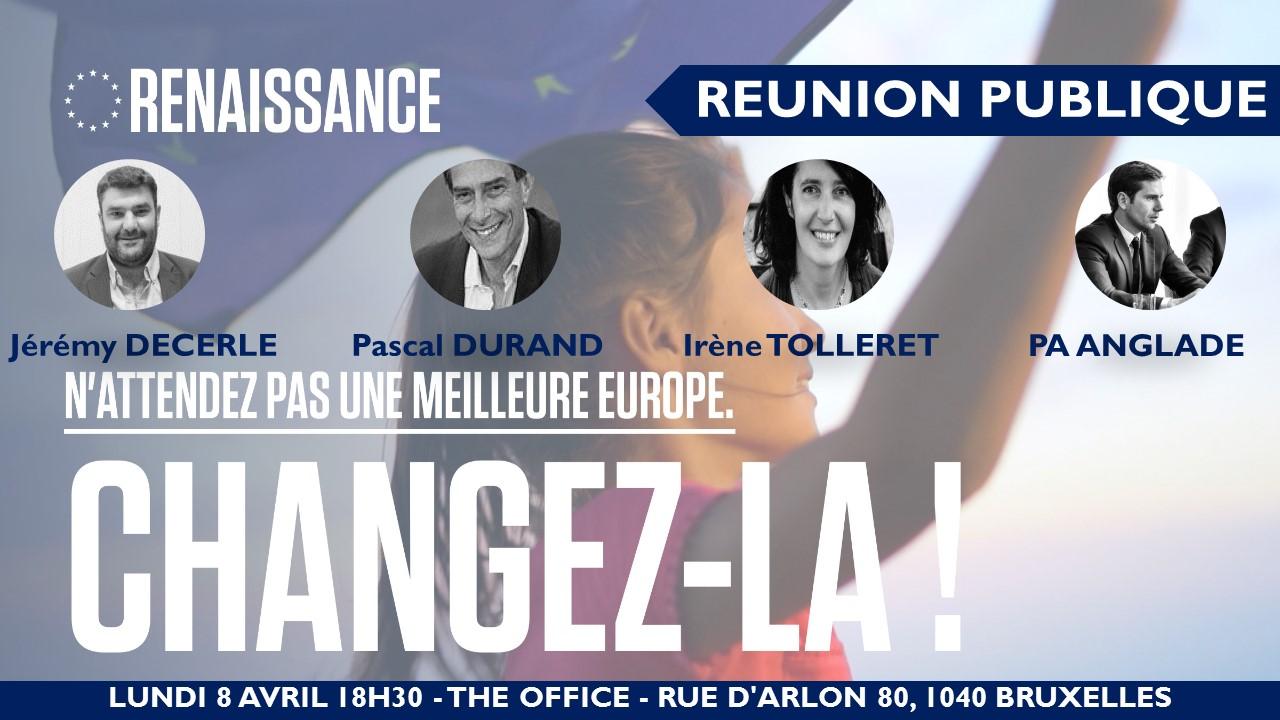 Réunion publique avec PA Anglade et 3 candidats de la liste Renaissance