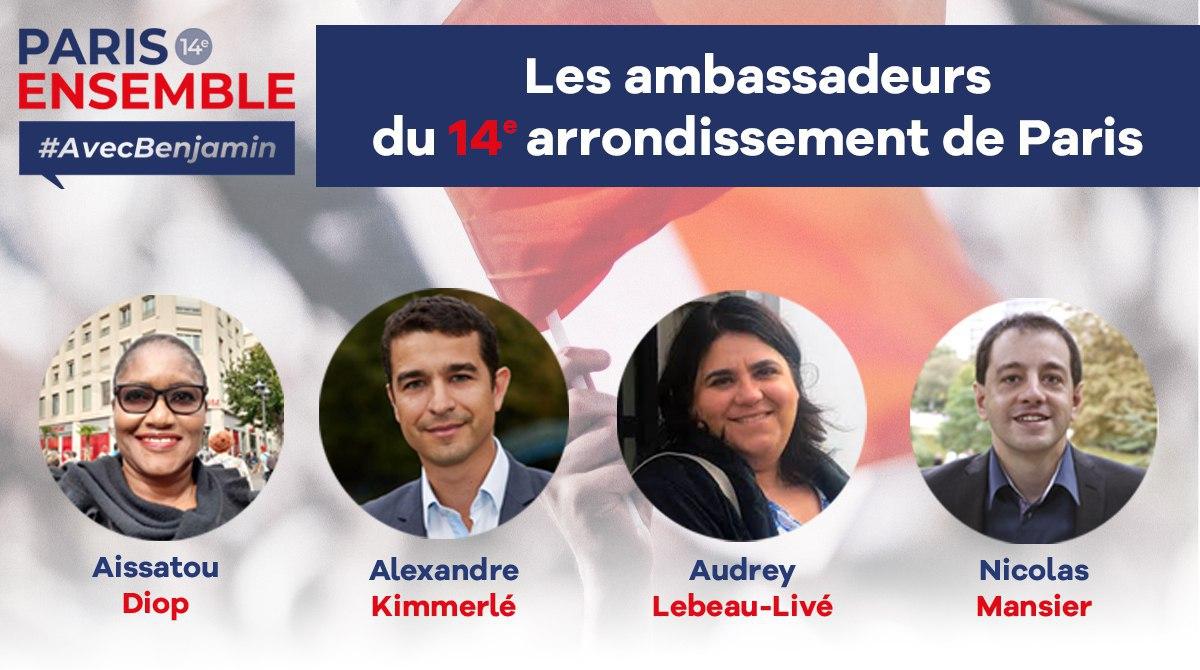 Découvrez les ambassadeurs de LaREM Paris 14e