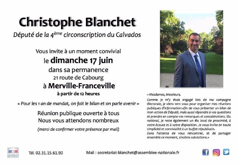 [UN AN] Christophe Blanchet, député du Calvados vous invite