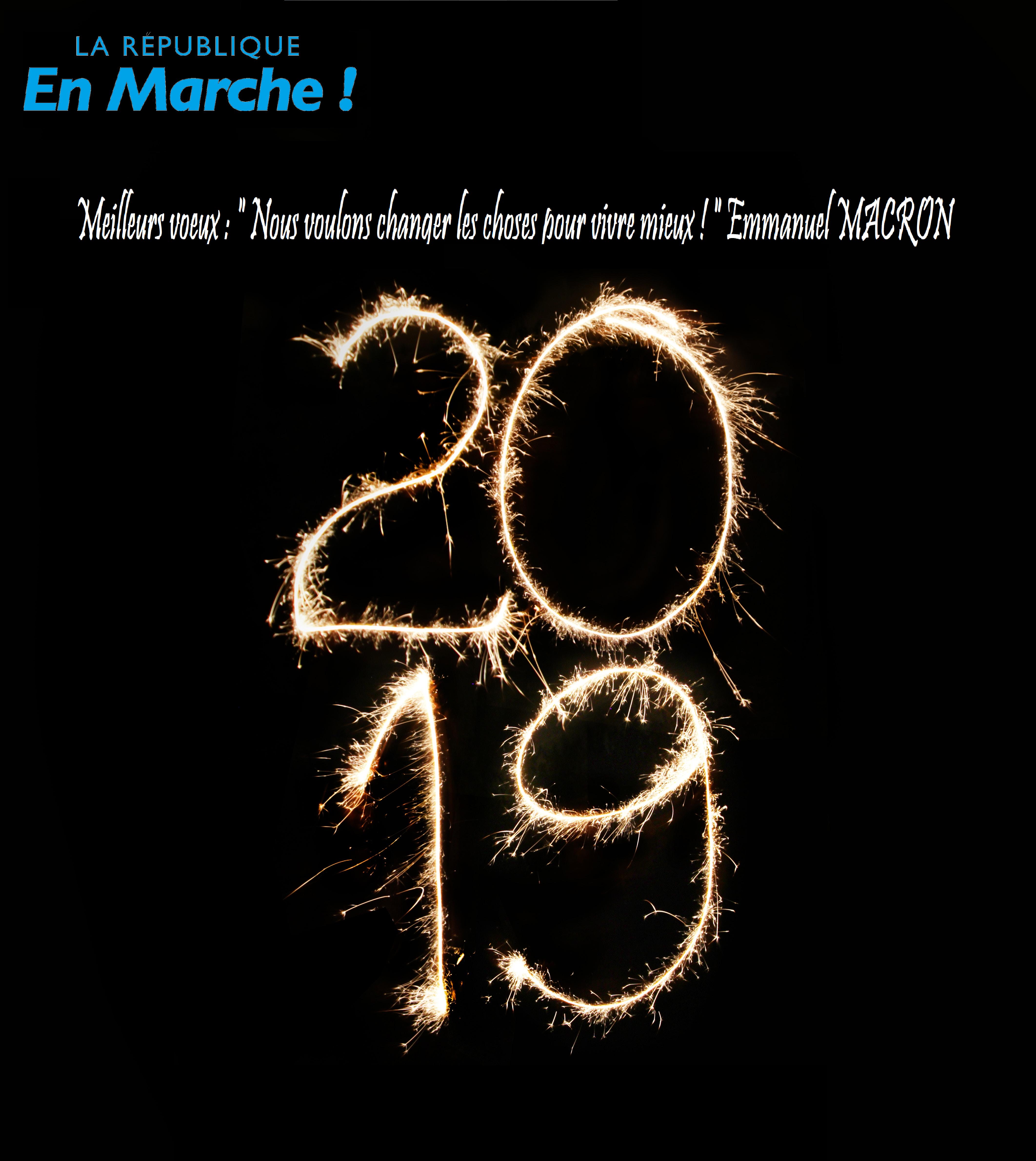 LaREM Paris 7 vous souhaite une excellente année 2019 !