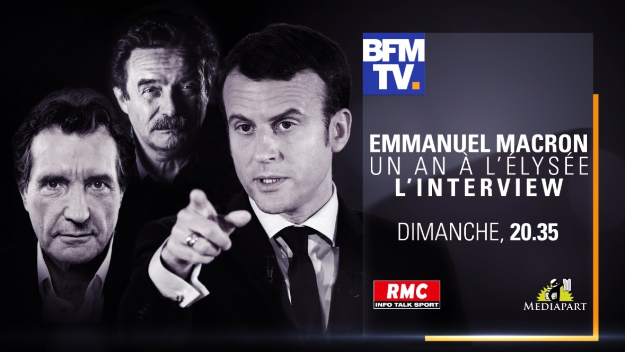 SUPPORT PARTY Interview Emmanuel MACRON Dimanche 15 avril 2018 à 20h35