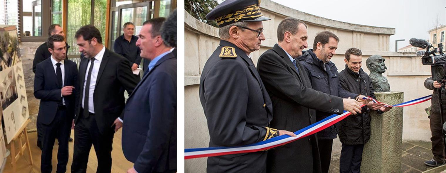 Christophe Castaner en visite à Draguignan