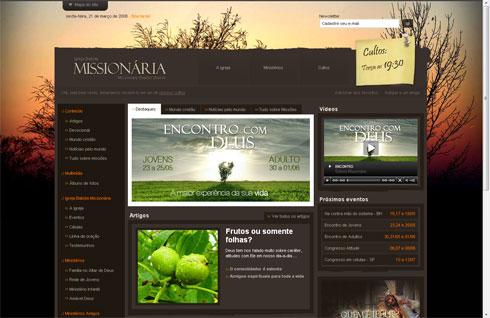 Exemplo do princípio do Gestalt da experiência passado aplicado ao web design.