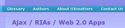 Exemplo de breadcrumb com outro símbolo: UXmatters