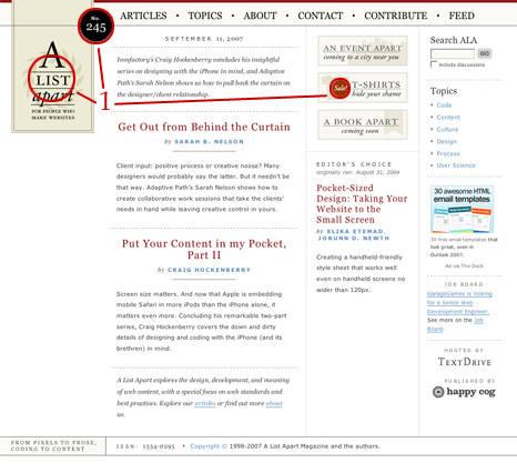 Elementos de design aplicados à web: dominância (ou ênfase)