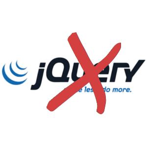 jQuery não está sendo usado.