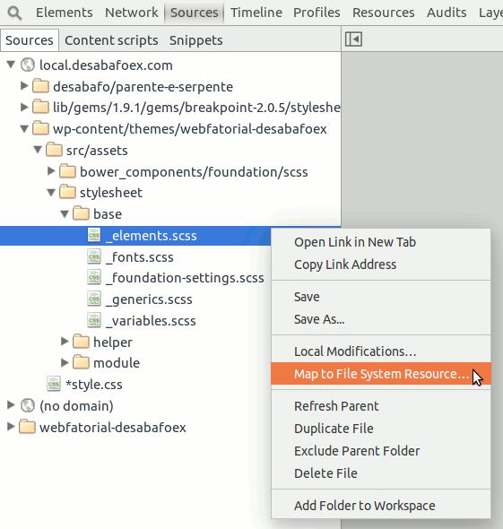 Mapeando recurso do sistema de arquivos.