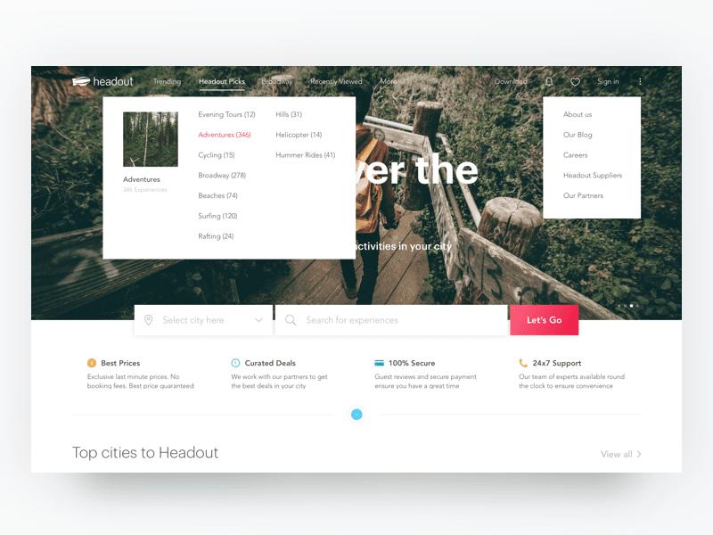 4 princípios fundamentais de design: exemplo de um site que usa bem as cores.