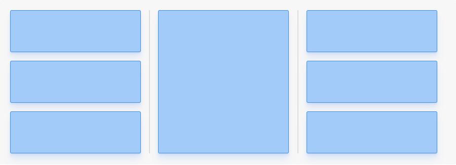 Quebrar linha com Flexbox: exemplo de layout que quebra a linha no quarto elemento. A diferença é que agora a quebra é em colunas.