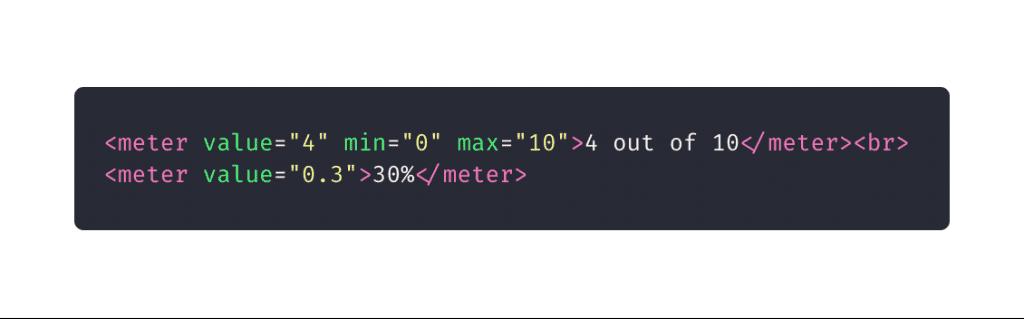 10 elementos HTML que você não sabia que precisava: meter
