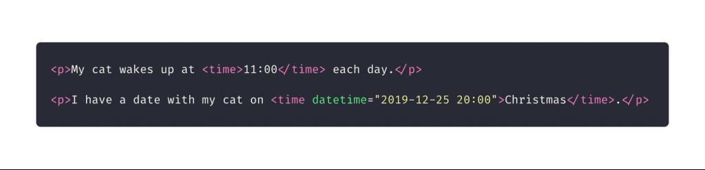 10 elementos HTML que você não sabia que precisava: time
