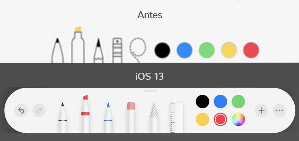Neumorphism: antes e depois de alguns elementos de interface iOS.
