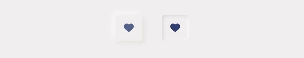 Neumorfismo: ícone com alternância de estados.