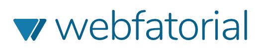 Logo da empresa webfatorial, responsável pelo blog desenvolvimento para web (ou dpw).
