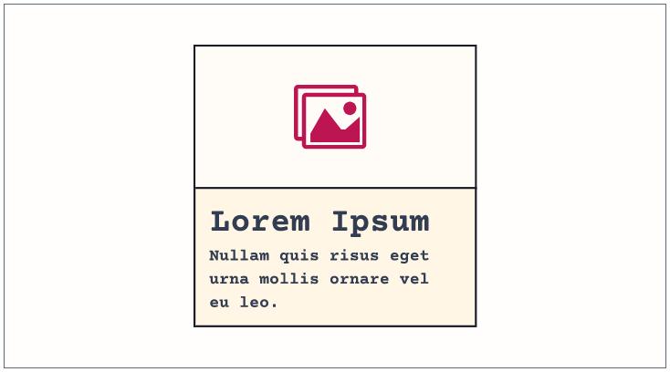 CUBE CSS: camada Bloco: exemplo de card.