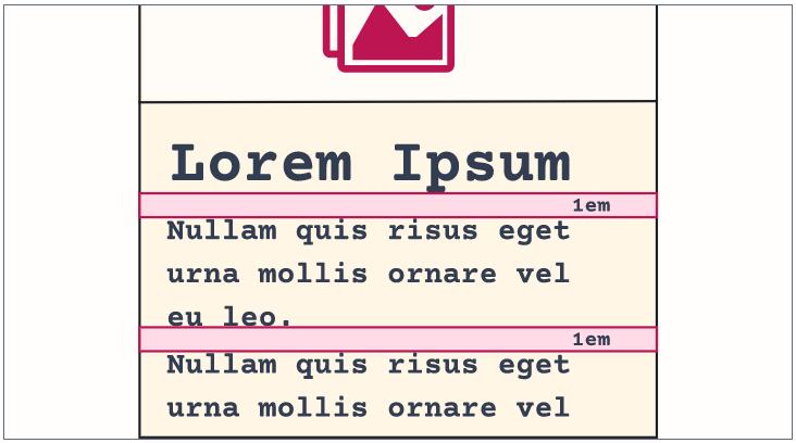 Camada Composição: exemplo de layout clássico com flow default.
