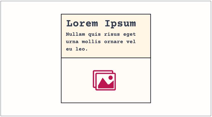 Camada Exceção: exemplo de card invertido.