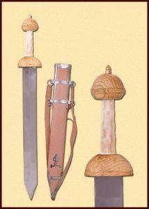 Pompeij Gladius met schede en riemen