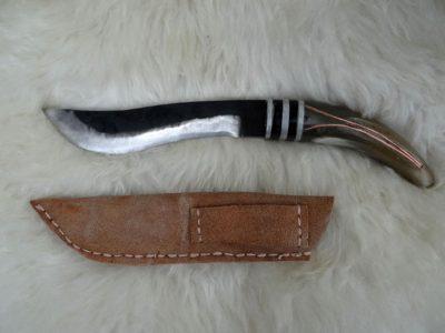 Skytian Dolch mit Kopfer und Horn 28 cm