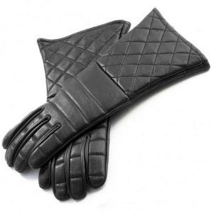 Handschoenen Leder zwart
