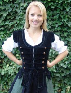 Middeleeuws Dames Vest Zwart