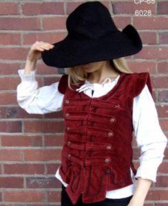 Middeleeuws Dames Vest Rood