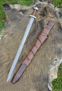 Wikinger Schwert Godfred von Damascus steel (deko)