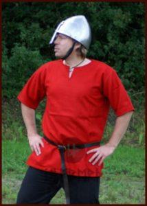 Middeleeuws-Viking Tuniek Wol, in Rood