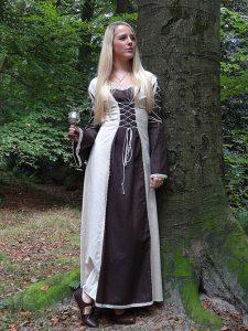 Middeleeuwse Jurk bruin-beige