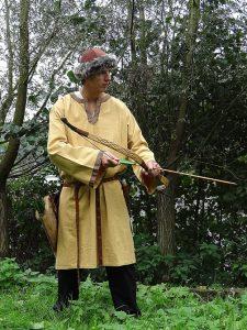 Middeleeuws-Viking Tuniek in Honing bruin