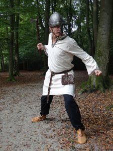 Middeleeuws-Viking Tuniek Beige/Wit