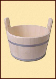 Holzerne Washtub 15 liter