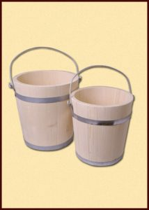 Holz Eimer aus Fichte 5 liter