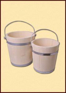 Holz Eimer aus Fichte 10 liter