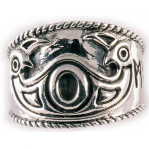 Viking Odin Ring Zilver Groot