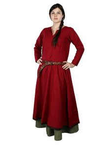 Middeleeuwse Dames Overjurk Rood