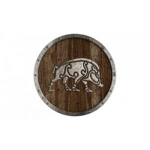 Viking schild met Wildzwijn