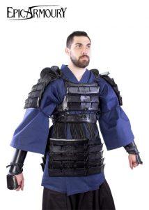 Lederrüstung Samurai  M-L Schwartz